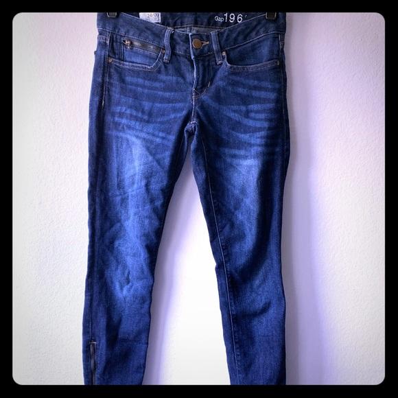 GAP Denim - GAP 1969 Always Skinny Jeans with Ankle Zippers